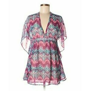 NWT Beautiful Chevron Stripe Purple Dress Cover up